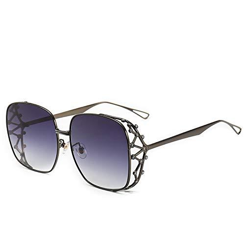 Gafas de Sol Gafas De Sol Cuadradas Vintage con Diamantes, Gafas De Sol De Cristal A La Moda para Mujer, Gafas Clásicas con Personalidad Femenina Uv40