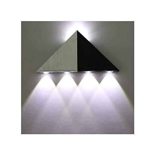 Lightess Apliques de Pared Pirámide Triangular Lámpara de Pared 5 LED 5W, Lámpara en Moda de Puro Aluminio Luz Cálida y AgradableLuz de Ambiente Iluminación de Pasillo, Entrada, Decoración Hogar,Blanco Frío