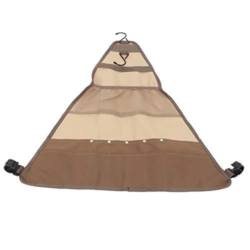 Alvinlite Bolsa de Almacenamiento de vajilla para Barbacoa para Camping, Picnic, portátil, Organizador de Cubiertos para Barbacoa, Bolsa de Soporte Colgante con múltiples Bolsillos de Almacenamiento