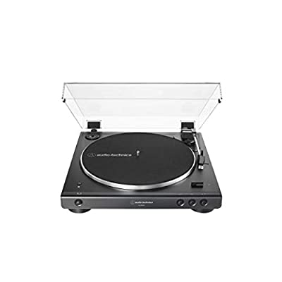 Audio-Technica AT-LP60XBT-BK Fully Automatic Bluetooth Belt-Drive Stereo Turntable, Black, Hi-Fidelity, Plays 33 -1/3 and 45 RPM Vinyl Records, Dust Cover, Anti-Resonance, Die-cast Aluminum Platter from audio-technica