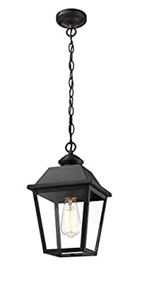 Rosient Outdoor Pendant Lights, 1-Light Exterior Pendant Lantern, Exterior Hanging Lights, Outdoor Pendant Lamp Fixture for for Porch, Patio, Entryway