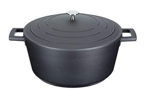masterclass MCMCRD28 Cast Aluminium Induction-Safe Non-Stick Casserole Dish, 5 L (1 Gal) -Black, 28 cm