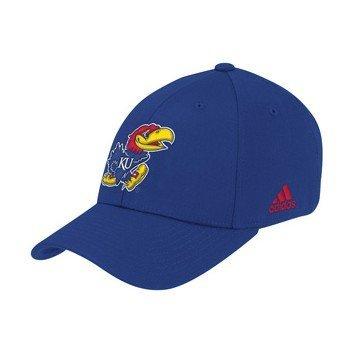 adidas Kansas Jayhawks azul pendiente Flex Fit gorro, Azul