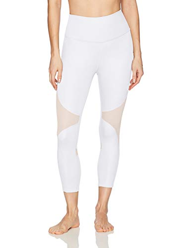 Alo Yoga Women's High Waist Coast Capri, White, S