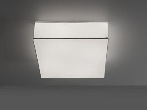 iBERGADA Lámpara de Techo Plafón de Tela Elástica - ECOCH Color Blanco (40cm x 40cm x 13cm)