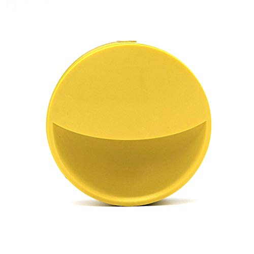 xuejuanshop Sconces Round Plug-in Night Light with Dusk to Dawn Sensor Night Light Auto on/off is Ideal for Corridor Bedroom Kitchen Wall Sconces (Color : Yellow, Size : Switch control)