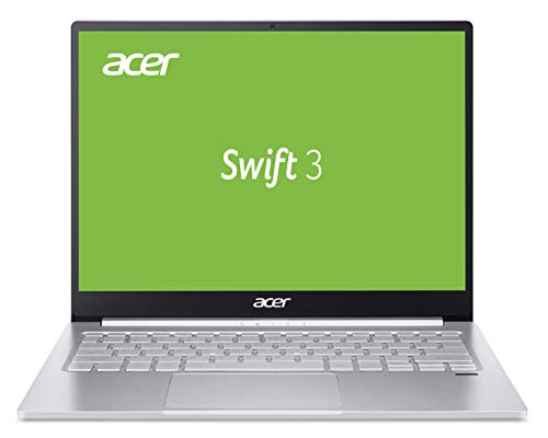 Acer Swift 3 (SF313-52-71YR) 33,8 cm (13,5 Zoll QHD IPS) Ultrathin Laptop (Intel Core i7-1065G7, 8 GB RAM, 1.000 GB PCIe SSD, Intel Iris Plus Graphics, Win 10 Home) silber