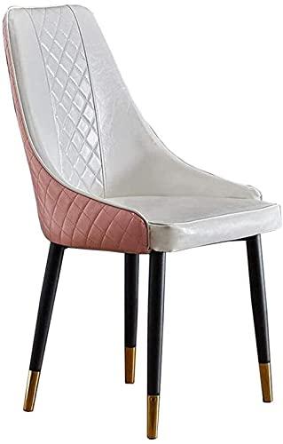 Sillas - Silla de comedor casual, asiento de la PU tapizado respaldo de la silla de la mesa de las piernas del metal del ocio silla del café montado cómoda silla 47 x 41 x 83 cm,