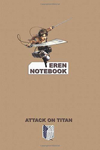 Eren Notebook: Perfect Gift, School&Office, Attack On Titan, Eren Jaeger