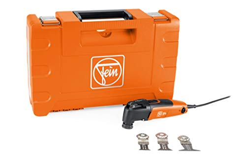 Fein MULTIMASTER MM 300 Plus Start (Multitool mit 5 m Kabel, 450 W, Multifunktionswerkzeug für Holz, Metall, Kunststoff, inkl. Sägeblätter mit Kunststoffkoffer) 72297261000