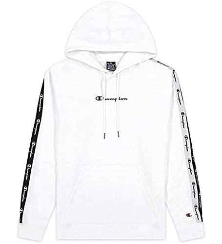 Champion American Tape Sweatshirt à Capuche, Blanc, XXL Homme