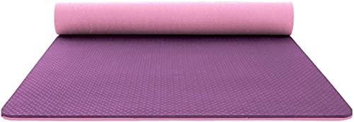 LSLS Esterilla De Yoga Alfombra de la Estera del Ejercicio de la Estera del Yoga de Dos Colores Antideslizante con la Correa de Las Alfombrillas de Yoga de 6 mm Esterilla Fitness (Color : D)