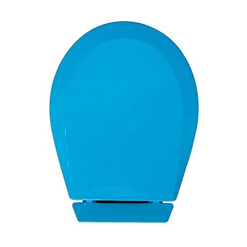 Zfggd Couleur Petit Siège De Toilette pour Bébé, Couvercle De Toilette pour Jardin d'enfants, Couvercle en PP pour Enfant, Fond Fixe (Color : Blue)