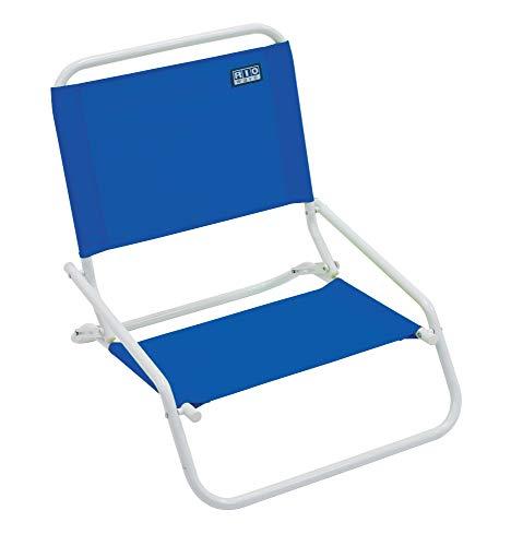 RIO beach Wave 1-Position Beach Folding Sand Chair - Pacific Blue