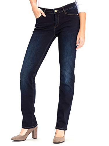 Cross Jeans Damen Straight Leg Jeanshose Rose, Gr. W36/L32 (Herstellergröße: 36), Blau (blue black used 026)