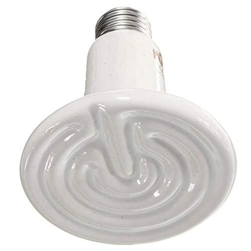 ASFF Lámpara De Calor para Reptiles De Electrodomésticos para Mascotas con Emisor De Cerámica De 90 Mm De Diámetro 360 Grados Giratorio Adecuado para Acuario (Size:250W; Color:White)