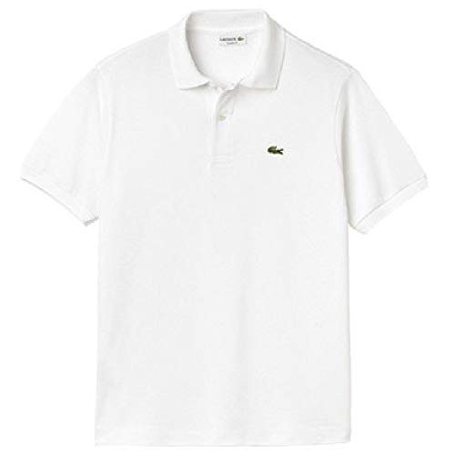 ポロシャツ 半袖 メンズ ラコステ LACOSTE L.12.12 クラシックフィット/定番 鹿の子ポロ 無地 日本製 紳士服/L1212A (4(日本サイズL相当), (001)ホワイト)