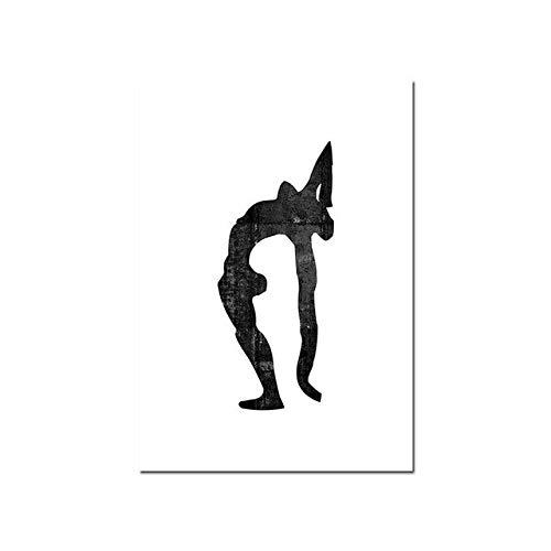 (Geen frame) 60x80CM Matisse Nordic Poster Modulaire Foto Abstract Vrouw Zwart Wit Modern Minimalistisch Canvas Schilderij Wall Art Home Decor Afdrukken