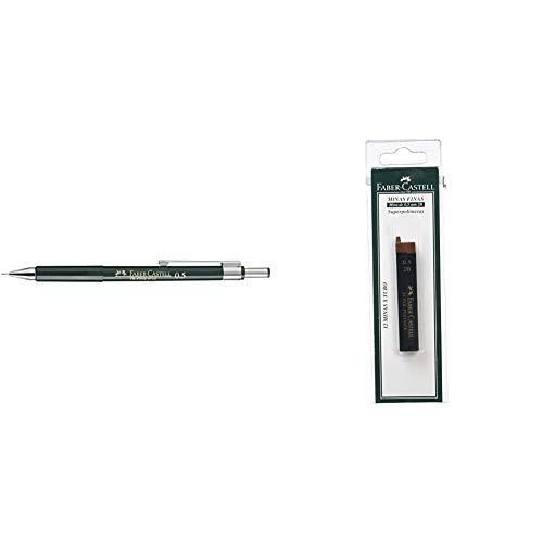 Faber-Castell 9715 - Portaminas + B-9065-2B - Blíster tubo de 12 minas,...