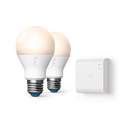 Ring A19 Smart LED Bulb, White (Starter Kit: 2-pack)