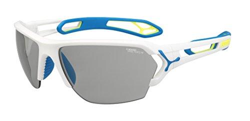 Cébé Cébé Unisex-Adult Sonnenbrille S'track L S TRACK L MATT WHITE BLUE Zone Vario, Einheitsgröße