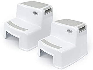 2 Pack 2 Step Stool for Kids | Toddler Stool for Potty Training and Use in The Bathroom or Kitchen | Wide Two Step Design for Growing Children | BPA Free Soft-Grip Steps for Comfort and S