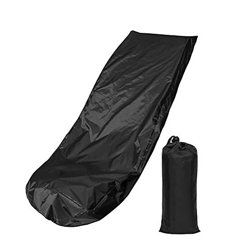 Cubiertas para muebles de jardín, cubierta para cortacésped, cubierta impermeable para soplador de nieve, parasol, protección UV, cubierta para tractor, para patio, jardín, muebles, motoc(Color:Negro)