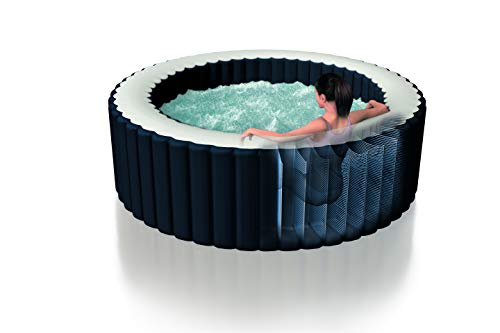 Intex Whirlpool Pure SPA Bubble Massage Plus - Ø 196 cm x 71 cm, für 4 Personen, Fassungsvermögen 795 l, kobaltblau, 28406GN