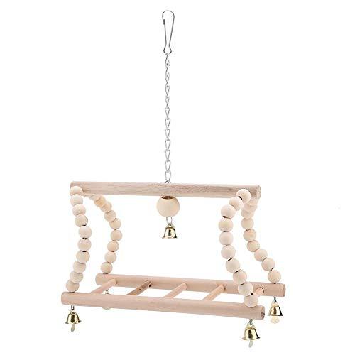TOPINCN Pet Papegaai Ladder Speelgoed Houten Klimmen Swing Ladder Brug Vogelkooi Accessoires Decoratieve Flexibel voor Vogels Hamster Trainning
