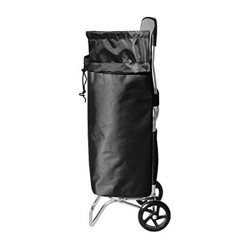 MTBH PMTBHEinkaufswagen, Treppensteigen Faltrad Leicht Aluminium Einkaufswagen PU Rad Faltrad Gepäckwagen Kapazität 55L