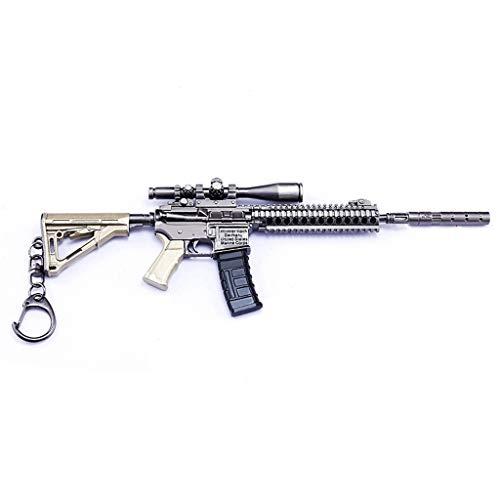 1/6 Escala Mini Legend Game M27 Metal Asalto Rifle Rifle Pistola Modelo Llavero Regalo Carácter Acción Arte Juguetes Mochila Colgante Suministros