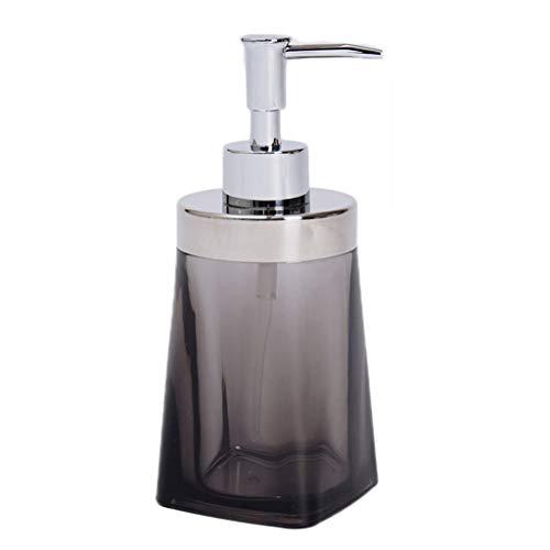 Liquide Distributeur Bouteilles de Buses en Acier Inoxydable Lotion Dispensers Bouteille Ménage Bathroomtoilet Showergel Distributeur (Color : Black, Taille : 17.5 * 7.4cm)