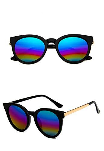 Gafas De Sol De Ojo De Gato Rosas para Mujer, Gafas De Sol Cuadradas con Espejo para Mujer, Gafas De Sol De Marca De Moda con Revestimiento, 04 Colores Negros