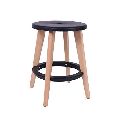 WOHAO Wohnzimmer Sitzsack Bürostuhl Massivholz McDonald Stuhl Moderne einfache Rund Hocker/Tisch Hocker/Hocker/Barhocker Stuhl (Farbe: D) (Color : B)