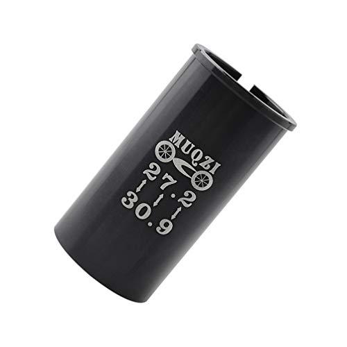 CLISPEED Fahrrad Sattelstütze Rohr Fahrradsitz Adapter Ring Seatpost Shim Reduzierhülse 27,2mm-30,9mm für Rennrad MTB BMX Mountainbikes Fahrrad Zubehör (Schwarz)
