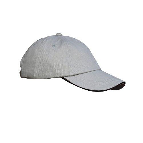 Result - Casquette uni Profil Bas 100% Coton - Adulte Unisexe (Taille Unique) (Gris/Noir)