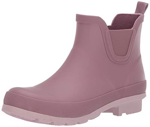 Amazon Essentials Women's Short Rain Boot, Blush, 8 M US