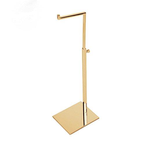 Verstellbarer Handtaschenständer/-display aus Edelstahl mit goldener, hochglänzender Oberfläche