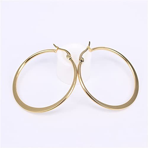 15mm 20mm 30mm 40mm 50mm 60mm 70mm Stainless Steel Simple Lightweight Comfortable Popular Female Earrings LH526