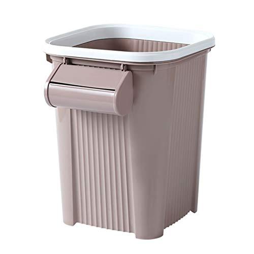 Trend-Cubo de Basura para Cocina Fabricado La basura azul de plástico puede Baño anillo de presión basura dormitorio principal de la sala Papelera creativo de residuos de papel trompeta Caja Del Siste