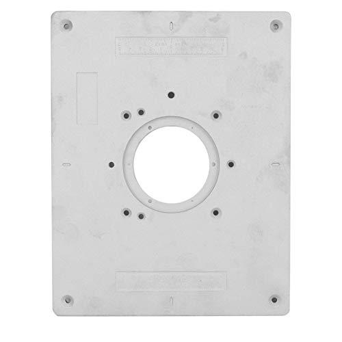 Placa de mesa de enrutador, placa de inserción de mesa de enrutador, placa base de inserción de sierra que funciona para la industria de carpintería DIY