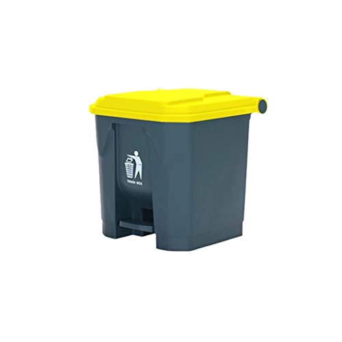 AOYANQI-Cubos de basura Bote de basura comercial, cocina doméstica, bote de basura de la sala de estar con tapa Tipo de pedal for espesar Contenedor de basura Unidad de almacenamiento Bajo techo, en e