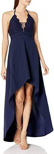 Speechless Women s Halter Sleeveless High Low Party Dress Navy 1 product image