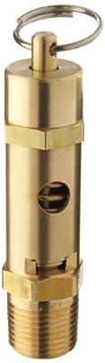 "Kingston 118CSS Series Brass ASME-Code High Capacity Safety Valve, 140 psi Set Pressure, 1/2"" NPT Male from Kingston Valves"
