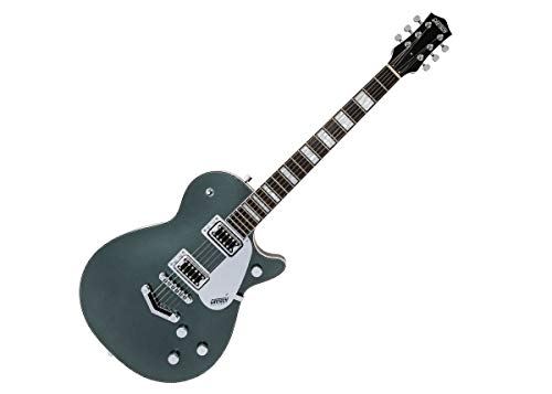 Gretsch G5220 Electromatic Jet BT Jade Grey Metallic w/V-Stoptail & Black Top Broad'Tron Pickups