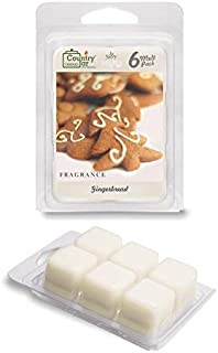 Country Jar Gingerbread Scented Wax Melt Soy Tarts (6-Cube Pk) Sale! 20! Off 3 or More!