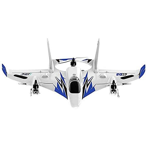 SXLCKJ Avión de Motor sin escobillas de 6 Canales, helicóptero RC eléctrico de 2.4 GHz, multifunción, Apto para Principiantes de aeromodelo (avión Inteligente)