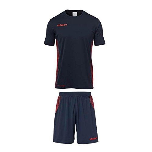 uhlsport Herren Score Kit Trikot&Shorts Set, Marine/Fluo rot, S