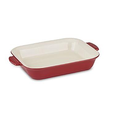 Cuisinart CCB30-36R Chef's Classic Ceramic Bakeware-4 Quart Large Rectangular Baker, Red