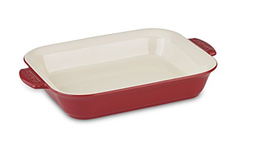 Cuisinart Chef's Classic Ceramic Bakeware-4 Quart Large Rectangular Baker, Red